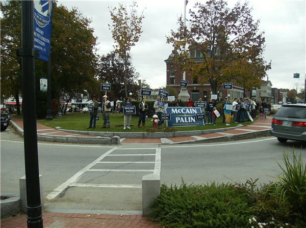 "Our Rally for McCain/Palin held on October 25th, 2008 on the Milford Town Common, known locally as ""the oval""."